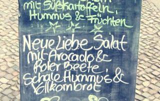 Café Neue Liebe Berlin Prenzlauer Berg - menu board