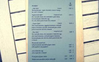Café Neue Liebe Berlin - Breakfast menu