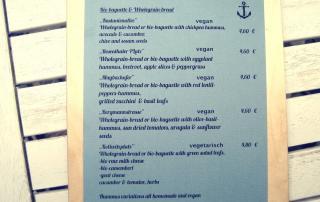 Café Neue Liebe Berlin - sandwich & bread menu
